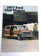 1977 Ford Club Wagon Van Original Sales Brochure Catalog