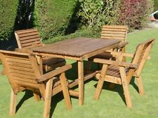 Patio Garden Wood Table Chair Sets, Wooden Table Chairs For Garden