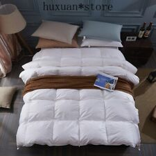 100% White Duck/goose Down Winter Quilt Comforter Duvet Filling Cotton Cover $$