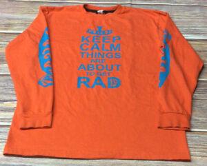Volcom Boys Orange XL Long Sleeve Tshirt Preowned
