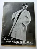 Rare 1938 Max Neuburger Fur Coat Catalog Tons of Exotic Fur Coats!
