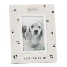 Woof Dog Photo Frame - Pawprint Portrait Rustic Style With Sentiments 55191