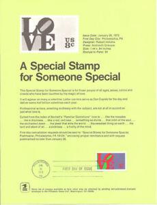 #7302 8c Love Stamp (First) #1475 Souvenir Page