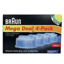 4 X4 X RASOIO CARTUCCIA DETERGENTE Clean&Renew CARTUCCIA Braun CCR4 ORIGINALE