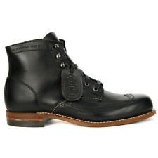 Wolverine Men's Evans 1000 Mile Wingtip Black Leather Boots W05344 NEW!