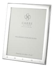 "CARRS - Sterling Silver Photo Frame Berkeley Design Feature Hallmark - 10"" x 8"""