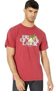 Publish Fruits of Your labor Short Sleeve T-Shirt, Red, Men's Small