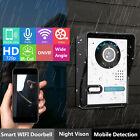 WiFi Sans Fil Sonnette Porte HD Interphone Vidéo Sécurité Caméra IR Vision Nuit