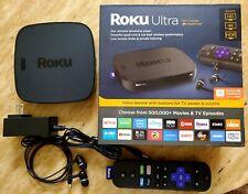 Roku Ultra Streaming Media Player 4K UHD HDR Model 4660X2 Voice JBL headphones