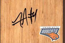 Charlotte Bobcats Jeff Adrien Signed FloorBoard COA