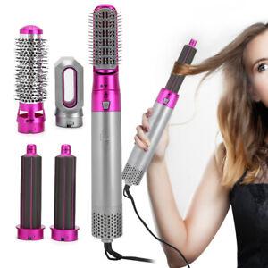 5 In 1 Electric Hair Dryer Volumizer Brush Hot Air Brush Comb Salon Curling Iron