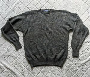 Pendleton Blue Green Crew Neck 100% Wool Washable Sweater Mens LARGE