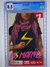 Ms Marvel #1 2014 1st Print CGC 8.5 Kamala Khan becomes Ms Marvel