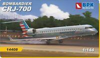BPK 14408 - 1/144 - Bombardier CRJ-700 American Eagle Company Plastic Model Kit