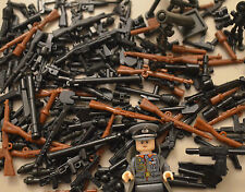 50PCS WW2 / WW1 WEAPON PACK TOY GUNS & WEAPONS INC BRICKARMs - FITS LEGO