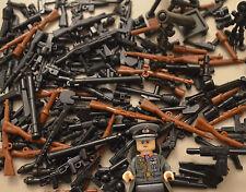 10PCS WW2 / WW1 WEAPON PACK TOY GUNS & WEAPONS INC BRICKARMS - FITS LEGO