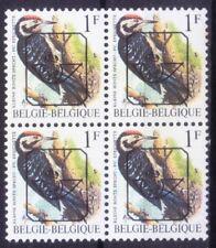 Lesser Spotted Woodpecker, Birds, Pre-cancel, Belgium 1990 MNH Blk 4  - K14