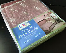 Cocalo Daniella Dust Ruffle Bedskirt in Standard Twin Size Bed - NEW