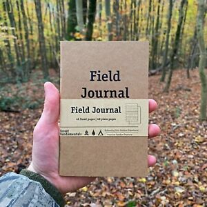 Outdoor Travel Journal | Bushcraft Camping Journal | Field Notes | Pocket Notes