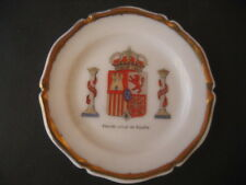 PLATE PORCELAIN SHIELDS MILITARY. SHIELD CURRENT OF SPAIN