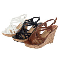 SheSole Womens Wedge Heels Sandals Strappy Shoes Gladiator Cocktail Cheap Party