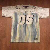 FUBU SPORT Gold Men's Football Jersey Vintage 90's CHAMPIONS LEAGUE Size Large