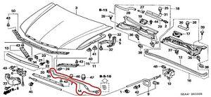 74145SEA000 Acura OEM 04-08 TSX Hood Support Prop Rod