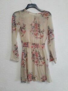 size 6 beige flowered dress from Miss Selfridge