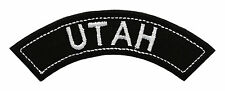 UTAH TOP MINI ROCKER EMBROIDERED MOTORCYCLE PATCH