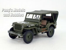 Willys MB Jeep - 1/4 Ton Military Vehicle Soft Top - 1/43 Scale Diecast Model