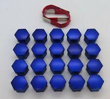 MINI ONE COOPER R55 R56 R57 BLUE WHEEL NUT BOLT COVERS CAPS 17mm x 20