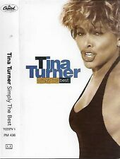 Tina Turner ‎Simply The Best CASSETTE ALBUM Pop Rock, Soul, Synth-pop House