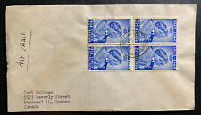 1949 Virgin Islands Airmail cover To Canada King George VI Silver Weeding