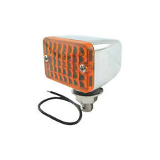 Model A Ford Utility Light - 12 Volt - 1-3/4 Chrome Light With Amber Lens -