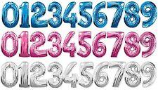 86.4cm Gigante METALIZADO números GLOBOS Todas las edades Cumpleaños Aniversario