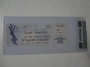 Ivan Rodriguez Texas Rangers signed autographed Full Ticket 6-12-1997 CAS COA