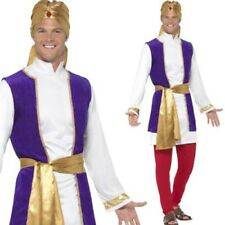 Adult Arabian Prince Costume Mens Bollywood Fancy Dress Outfit New M,L
