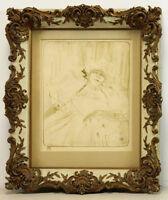 """Henri de Toulouse-Lautrec Yvette Guilbert """"Chanson Ancienne"""""""