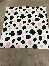 Novelty Cow print craft remnant fabric material piece 110x105cm