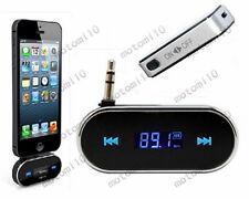Handsfree 3.5mm Car FM Transmitter Audio Radio Music Adapter Kit For iPhone Mo