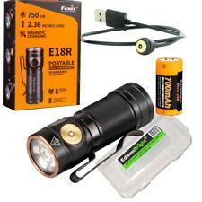 Fenix E18R 750 lumen CREE LED compact EDC USB rechargeable flashlight w/battery