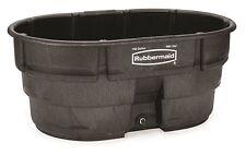Rubbermaid 150 Gallon Stock Tank + Drain Plug Livestock Feeding Structural Foam