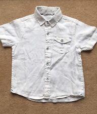 BOYS white Linen Summer Short Sleeve Shirt 3years JOHN LEWIS