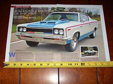 1970 AMC REBEL THE MACHINE AMERICAN MOTORS - ORIGINAL 2014 ARTICLE