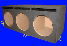 "3 THREE HOLE 12"" PORTED VENTED GREY CHAMBERED SUBWOOFER SUB ENCLOSURE BOX"