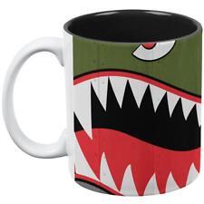 Halloween WWII Flying Tiger Fighter Shark Nose Art All Over Coffee Mug