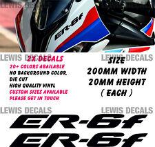 Kawasaki ER6F Stickers Decals Motorcycle Moto GP Fairing Panel Belly Pan