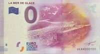 BILLET 0  EURO  LA MER DE GLACE FRANCE 2017 NUMERO 100