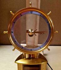 Vintage Mcm Jefferson Golden Helm Mystery Clock Ships Wheel Excellent Condition!