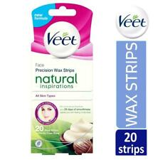 Veet Natural Inspirations Precision Face Hair Removal 20 Wax Strips Finish Wipes